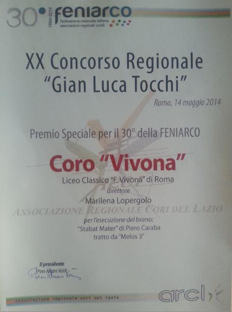 2014 DIPLOMA FENIARCO