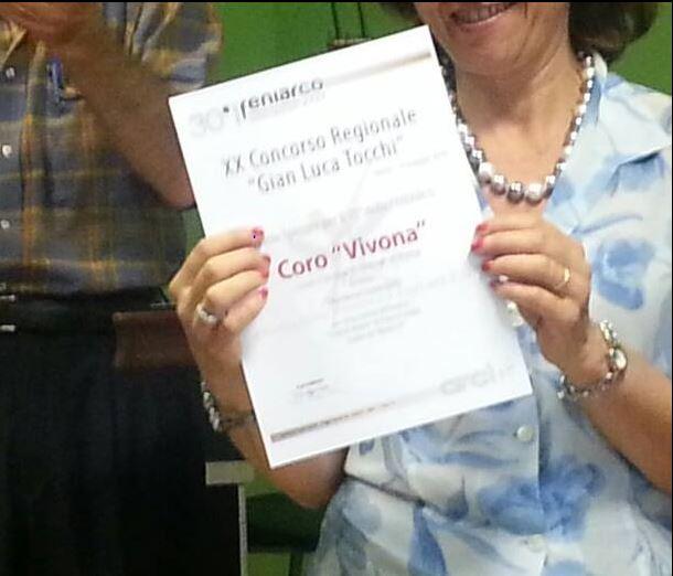 2014 diploma di Merito CORO VIVONA